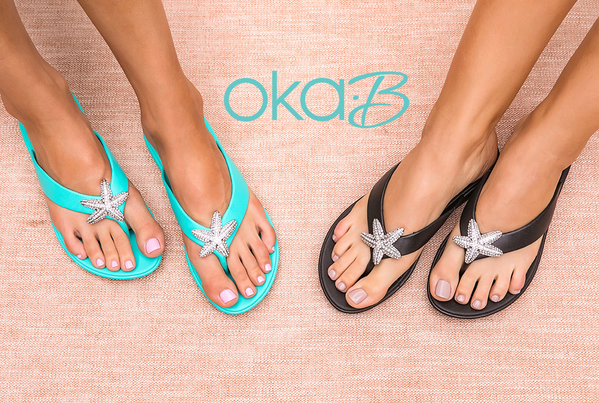Oka B Spa Sandals available to buy at Opal 21 Spa in Moncton NB